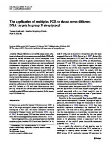 The application of multiplex PCR to detect seven ... - Springer Link