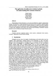 The application of multivariate statistical methods ... - AgEcon Search