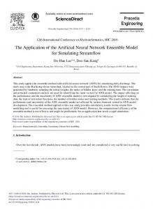 The Application of the Artificial Neural Network ... - ScienceDirect