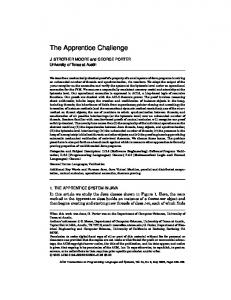 The Apprentice Challenge - UCSD CSE