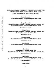 The Araucaria Project: The distance to the Carina Dwarf Galaxy from ...