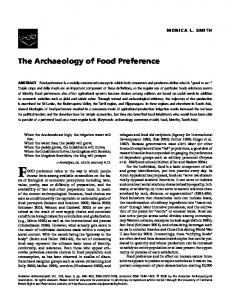 The Archaeology of Food Preference - UCLA Division of Social Sciences