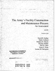 The Army's Facility Construction and Maintenance ...