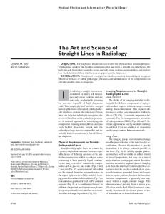 The Art and Science of Straight Lines in Radiology - AJR