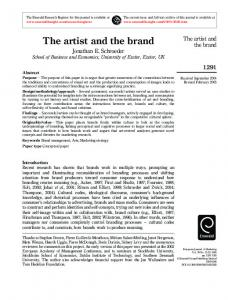 The artist and the brand - CiteSeerX