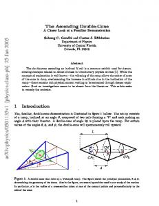 The Ascending Double-Cone: A Closer Look at a Familiar ...