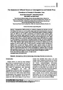 The Assessment of Affected Factors on Cytomegalovirus and Rubella ...