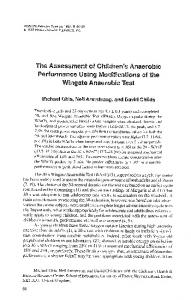 The Assessment of Children's Anaerobic Performance Using ...