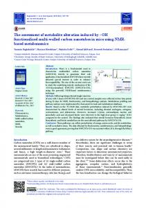 The assessment of metabolite alteration induced by –OH ... - BioImpacts