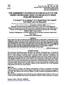 the assessment of surface water quality in the lepenc