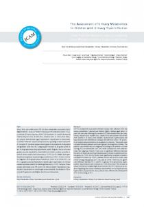 The Assessment of Urinary Metabolites in Children with Urinary Tract