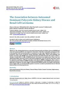 The Association between Autosomal Dominant Polycystic Kidney ...