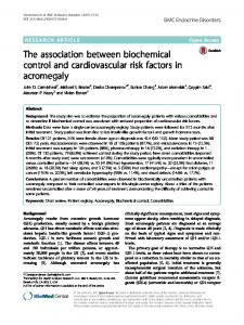 The association between biochemical control and cardiovascular risk ...