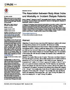 The Association between Body Mass Index and ... - Semantic Scholar