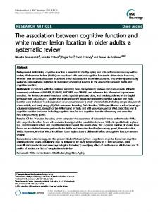 The association between cognitive function and