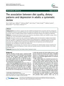 The association between diet quality, dietary patterns and ... - CiteSeerX