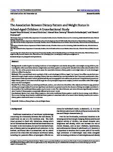 The Association Between Dietary Pattern and Weight