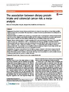 The association between dietary protein intake and colorectal cancer ...