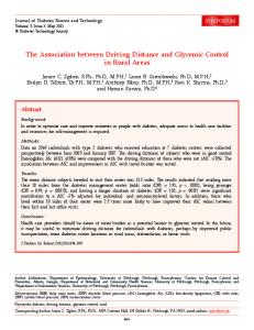 The Association between Driving Distance and Glycemic Control in ...