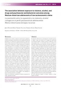 The association between exposure to violence