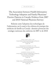 The Association between Health Information Technology Adoption ...