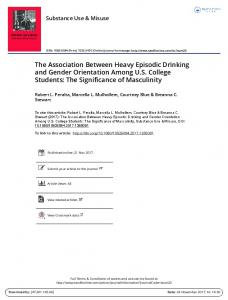 The Association Between Heavy Episodic Drinking ...