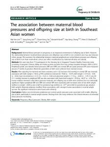 The association between maternal blood ... - Semantic Scholar
