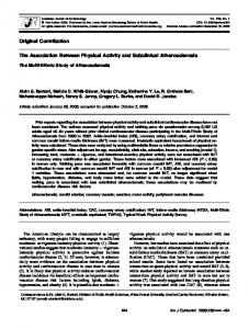 The Association Between Physical Activity and Subclinical ...