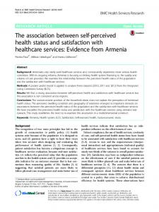 The association between self-perceived health status and satisfaction ...