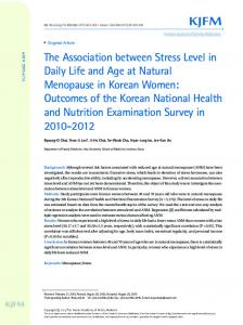 The Association between Stress Level in Daily Life