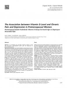 The Association between Vitamin D Level and Chronic ... - FTR Dergisi