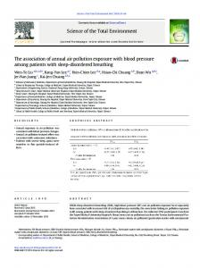 The association of annual air pollution exposure with ...