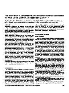 The association of pericardial fat with incident coronary heart disease ...