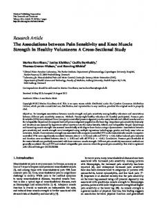 The Associations between Pain Sensitivity and Knee Muscle Strength ...