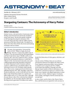 The Astronomy of Harry Potter