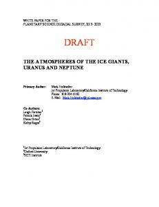 the atmospheres of the ice giants, uranus and neptune - Lunar and ...