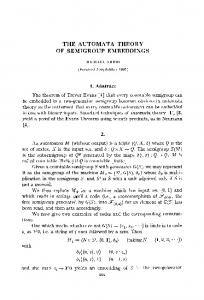 The automata theory of semigroup embeddings