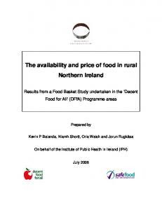 The availability and price of food in rural Northern Ireland