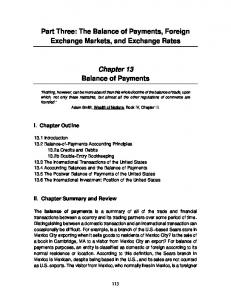 The Balance of Payments, Foreign Exchange Markets, and ... - Wiley