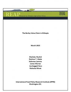 The Barley Value Chain in Ethiopia - Research for Ethiopia's ...
