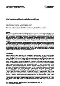The barriers to illegal anabolic steroid use