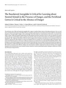 The Basolateral Amygdala Is Critical for Learning ... - Semantic Scholar