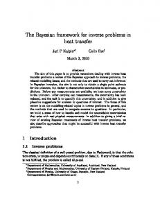 The Bayesian framework for inverse problems in heat transfer - Physics