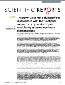 The BDNF Val66Met polymorphism is associated with ...