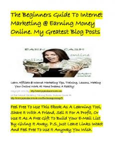 The Beginners Guide To Internet Marketing @ Earning Money ...
