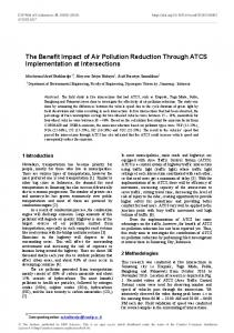 The Benefit Impact of Air Pollution Reduction Through ATCS