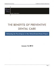 the benefits of preventive dental care - Blue Sky Consulting Group