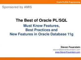 The Best of Oracle PL/SQL - Toad World