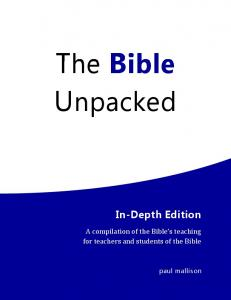 The Bible Unpacked - In-Depth Edition, Electronic Version