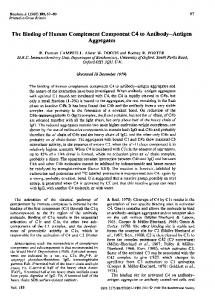 The Binding of Human Complement Component C4 to ... - NCBI